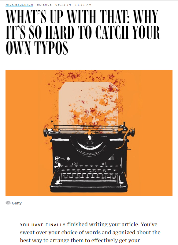 wired typos
