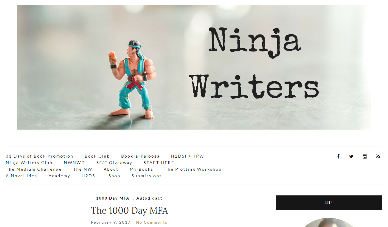 ninja writers mfa
