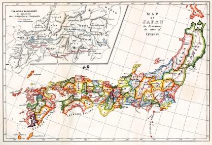 feudal japan map