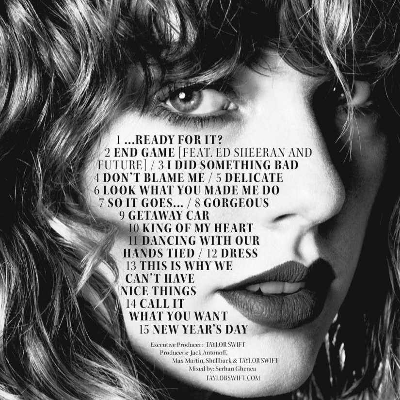 Track by Track: reputation by Taylor Swift (for fans only)